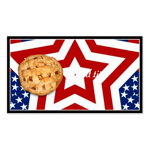 Apple Pie on Stars & Stripes Business Card Template