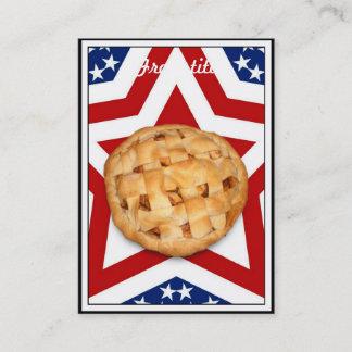 Apple Pie on Stars & Stripes Design Business Card