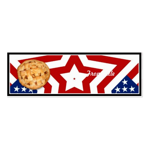 Apple Pie on Stars & Stripes Design Business Card Templates