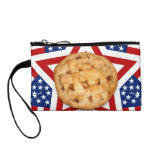 Apple Pie on Stars & Stripes Design Coin Purses