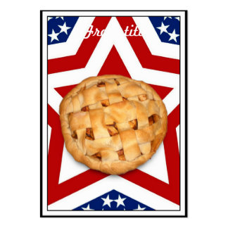 Apple Pie on Stars & Stripes Design Large Business Card