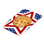 Apple Pie on Stars & Stripes Design Magnet