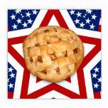 Apple Pie on Stars & Stripes Design Acrylic Cut Out
