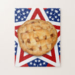 Apple Pie on Stars & Stripes Design Puzzle