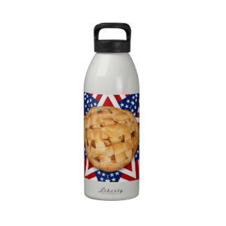 Apple Pie on Stars Stripes Design Water Bottles