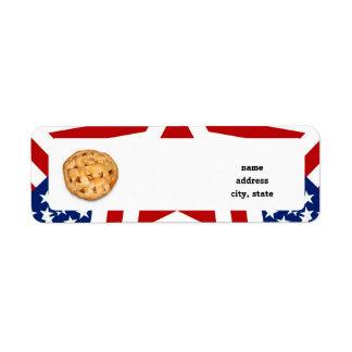 Apple Pie on Stars Stripes Custom Return Address Labels