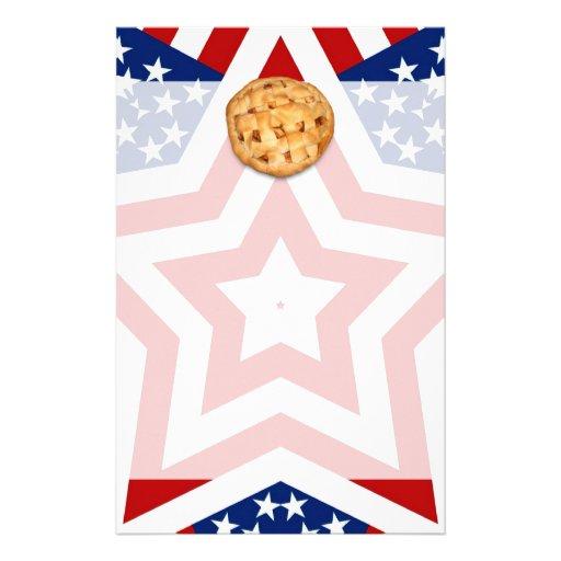 Apple Pie on Stars & Stripes Stationery