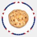 Apple Pie on Stars & Stripes Stickers
