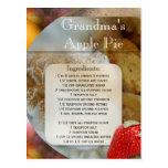 Apple Pie or Dessert Recipe Postcard