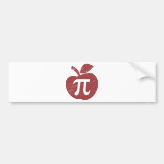 Apple Pie Pi Day Bumper Sticker