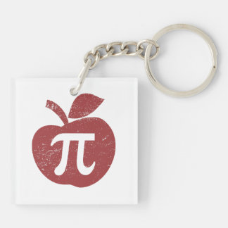 Apple Pie Pi Day Keychain