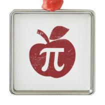 Apple Pie Pi Day Metal Ornament