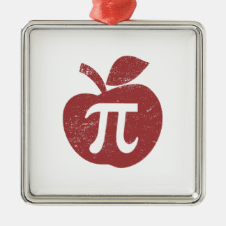 Apple Pie Pi Day Metal Ornament