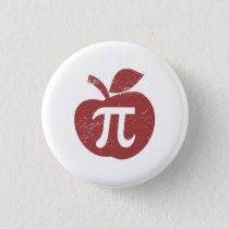 Apple Pie Pi Day Pinback Button