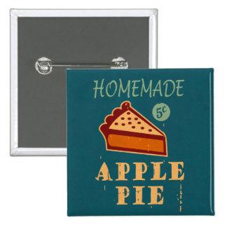 Apple Pie Pinback Button