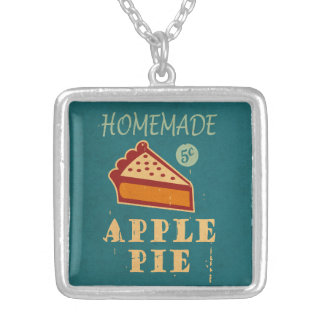 Apple Pie Silver Plated Necklace