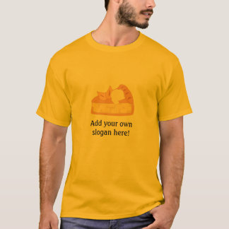 Apple Pie Slice: Customizable Slogan T-Shirt
