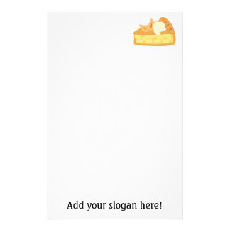 Apple Pie Slice Picture: Add Text to Customize Stationery