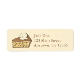 Apple Pie Slice w/ Ice Cream Address Labels