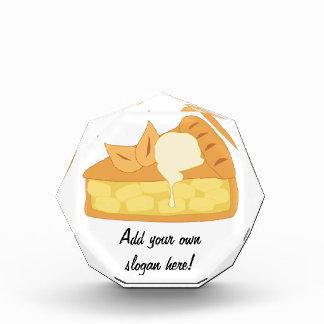 Apple Pie Slice with Ice Cream Image Acrylic Award