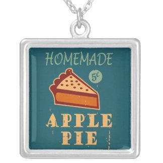 Apple Pie Square Pendant Necklace