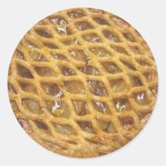 Apple Pie Round Sticker