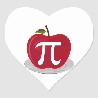 Apple Pie Heart Stickers