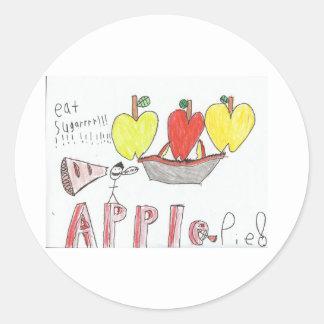 apple pie round stickers