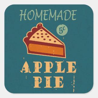 Apple Pie Square Sticker