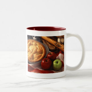 Apple pie Two-Tone coffee mug