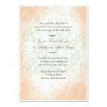 Apple Pink Green Victoria Wedding Invitation
