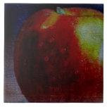 Apple pintado azulejo