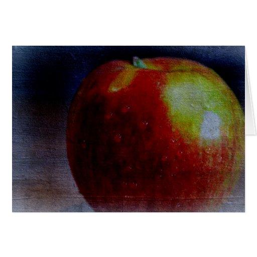Apple pintado tarjetas