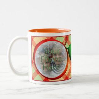 Apple Plaid Customizable Photo Mug