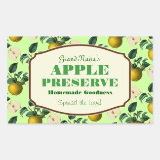 Apple Preserve Jam Label