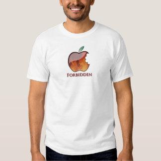 Apple prohibido da fruto camiseta playeras