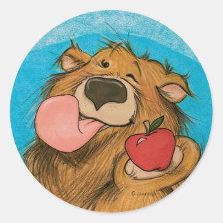 Apple que guiña el oso/al pegatina