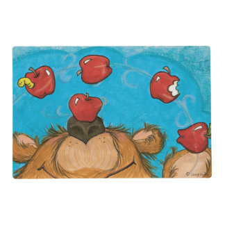 Apple que hace juegos malabares el oso Placemat Salvamanteles