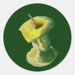 Apple quita el corazón pegatina redonda