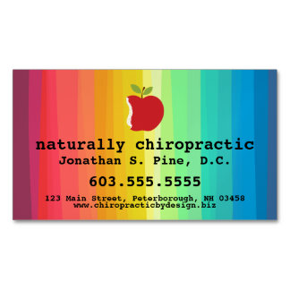 Apple/Rainbow Chiropractic Magnetic Business Cards