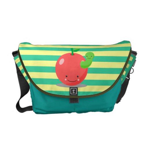 Apple rayado empaqueta bolsas de mensajeria