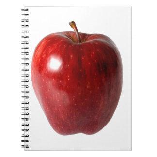 Apple red delicious brillante libreta espiral