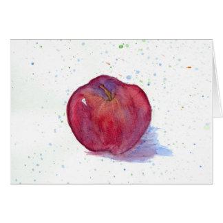 Apple red delicious da fruto espacio en blanco del tarjeta pequeña