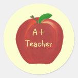 Apple rojo, A+ Pegatinas del profesor