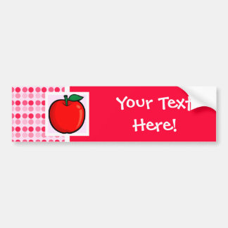 Apple rojo pegatina de parachoque
