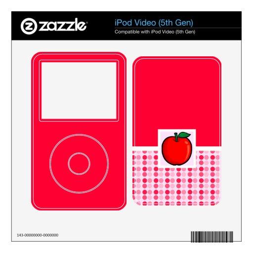 Apple rojo calcomanías para iPod video