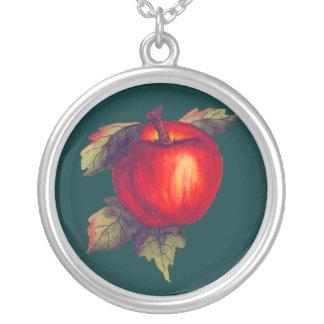 Apple rojo collar personalizado