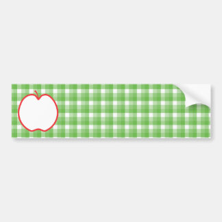 Apple rojo. Con el fondo verde y blanco del contro Pegatina Para Auto