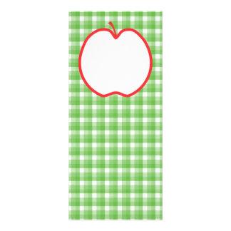 Apple rojo Con el fondo verde y blanco del contro Lona Personalizada