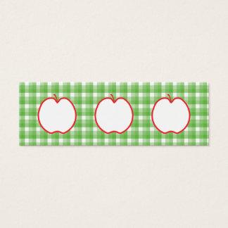 Apple rojo. Con el fondo verde y blanco del Tarjetas De Visita Mini
